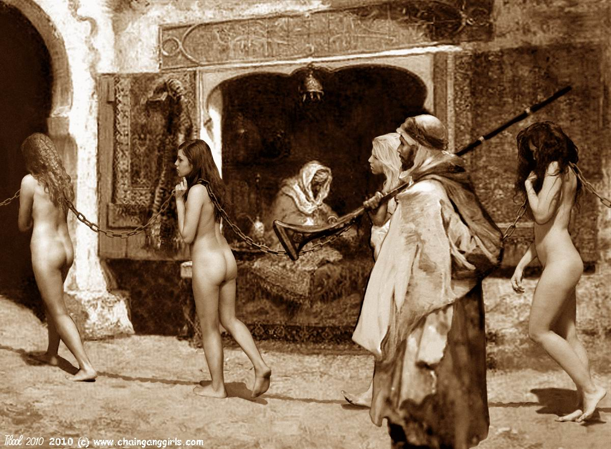 Girls colored naked slave