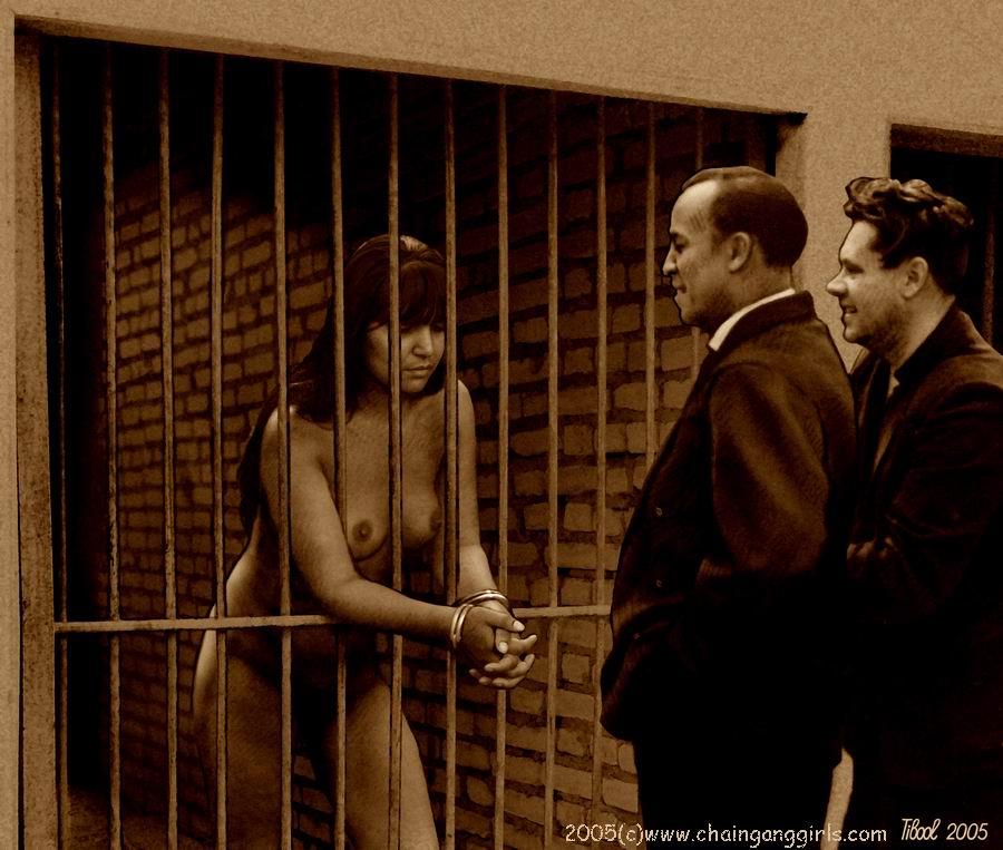 Naked slave girl chain gang confirm. happens